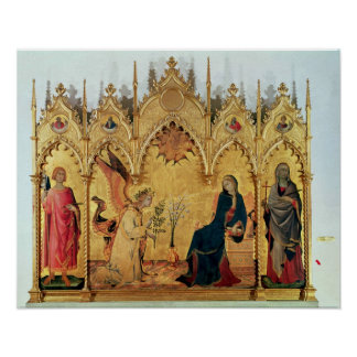 The Annunciation with St. Margaret and St. Poster