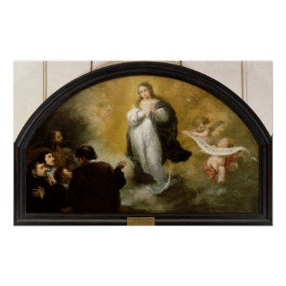 The Apparition of the Virgin, 1665 Poster
