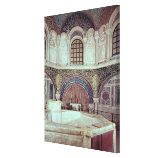 The apse with the baptismal font canvas print