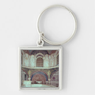 The apse with the baptismal font Silver-Colored square key ring