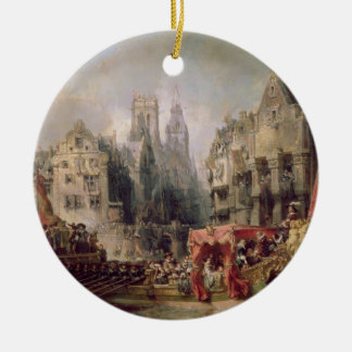The Arrival of Fernando Alvarez de Toledo, Duke of Christmas Ornament