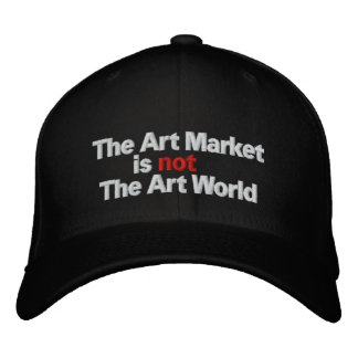 The Art Market is not The Art World Embroidered Hats