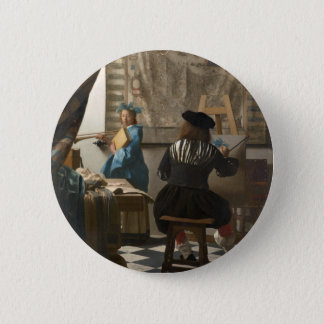 The Art of Painting by Johannes Vermeer 6 Cm Round Badge