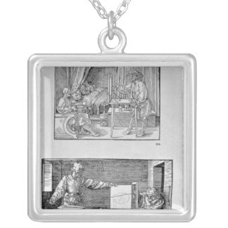 The artist's first technical book silver plated necklace