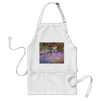 The Artist's Garden at Giverny by Monet Standard Apron