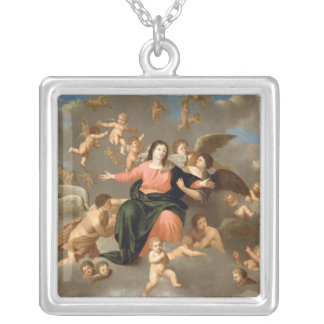 The Ascension of the Virgin Silver Plated Necklace