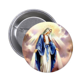 The Assumption of Mary 6 Cm Round Badge