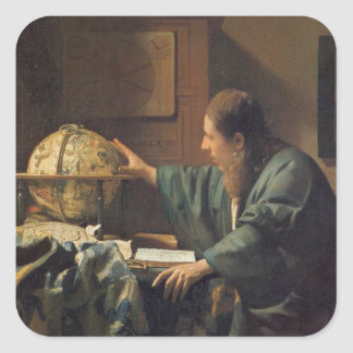 The Astronomer by Johannes Vermeer Square Sticker