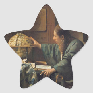 The Astronomer by Johannes Vermeer Star Sticker