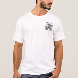 The Atheist Binary in Black T-Shirt