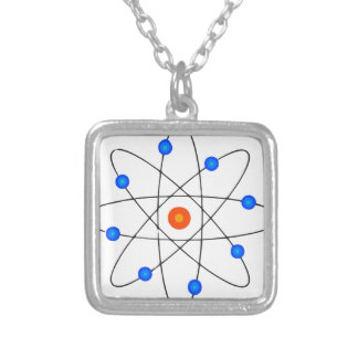 The atom silver plated necklace