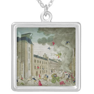 The Attempted Assassination of Napoleon Bonaparte Silver Plated Necklace