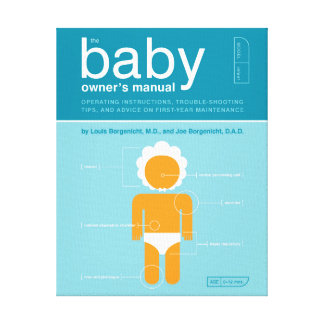 The Baby Owner's Manual Canvas Print