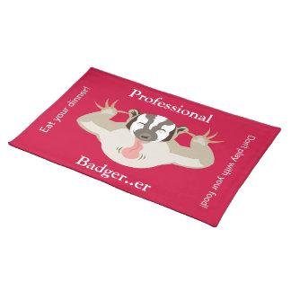 The Badgering Badger_Professional Badger er_red Placemats