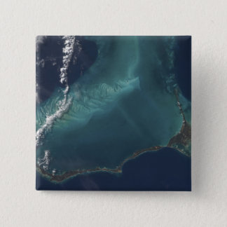The Bahamas' lengthy narrow Eleuthra Island 15 Cm Square Badge