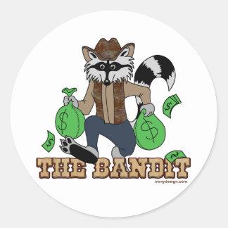 The Bandit Raccoon Classic Round Sticker