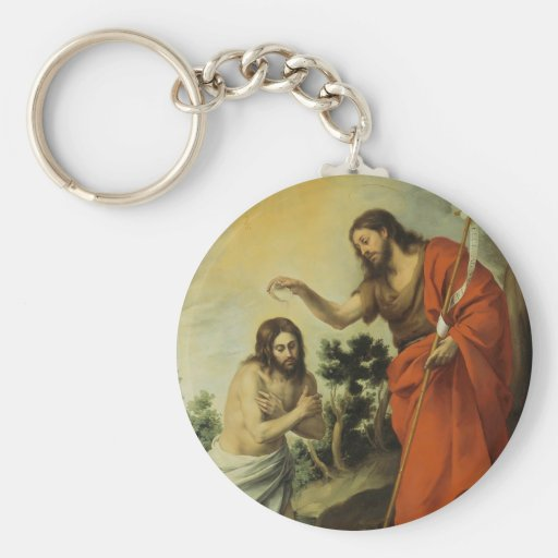 The Baptism of Christ by Bartolome Esteban Murillo Key Chains