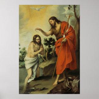 The Baptism of Christ by Bartolome Esteban Murillo Poster