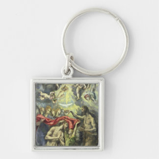 The Baptism of Christ, c.1597 (oil on canvas) Silver-Colored Square Key Ring