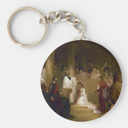 The Baptism of Pocahontas by John Gadsby Chapman Keychain
