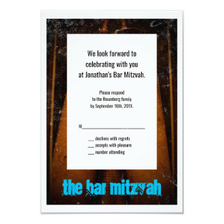 The Bar Mitzvah Movie Reply Card 9 Cm X 13 Cm Invitation Card