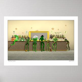 The Bar Scene 3D Poster