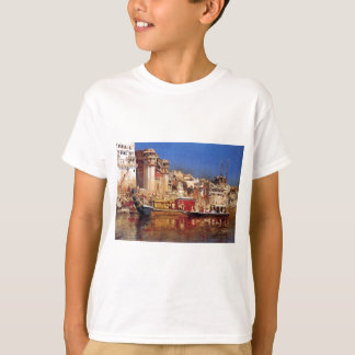 The Barge Of The Maharaja Of Benares by Edwin Lord T-Shirt