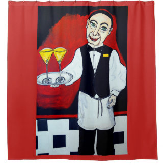 THE BARTENDER SHOWER CURTAIN