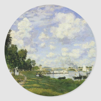 The Basin at Argenteuil by Claude Monet Classic Round Sticker