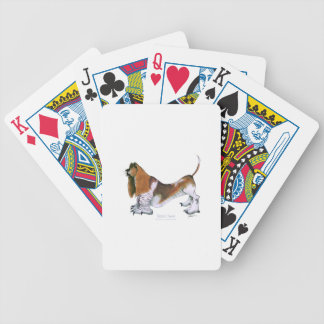 the basset hound, tony fernandes bicycle playing cards