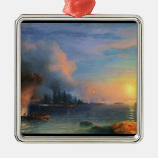 The Battle of Bomarsund Ivan Aivazovsky seascape Christmas Ornament
