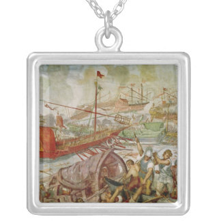The Battle of Lepanto, October 1571, 1600 Silver Plated Necklace