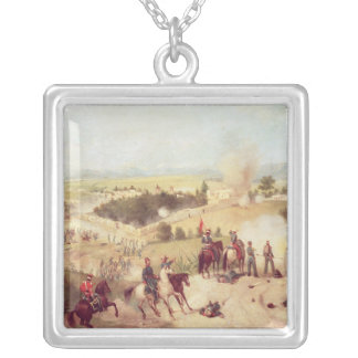 The Battle of Molino del Rey, 8th September 1847 Silver Plated Necklace