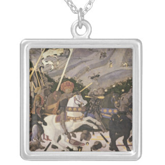 The Battle of San Romano, c.1438-40 Silver Plated Necklace