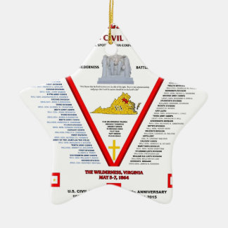 THE BATTLE OF THE WILDERNESS U.S.CIVIL WAR CHRISTMAS ORNAMENT