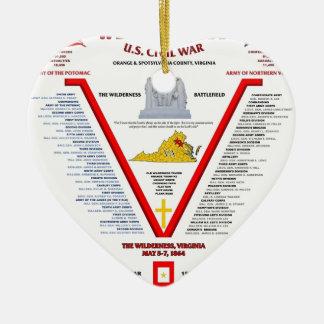 THE BATTLE OF THE WILDERNESS U.S.CIVIL WAR CHRISTMAS ORNAMENT