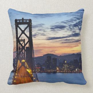 The Bay Bridge from Treasure Island Cushions