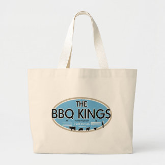 The bbq kings large tote bag