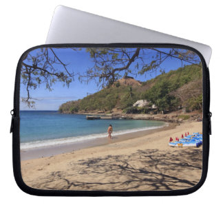 The beach at Pigeon Island National Park Laptop Sleeve