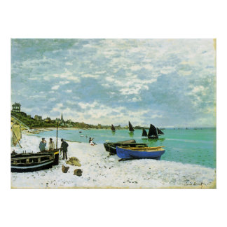 The Beach at Sainte-Adresse Claude Monet Poster