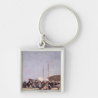 The Beach at Trouville, 1864 Keychains