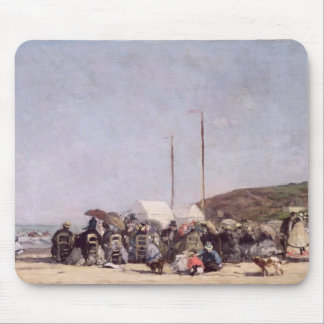 The Beach at Trouville, 1864 Mouse Pad