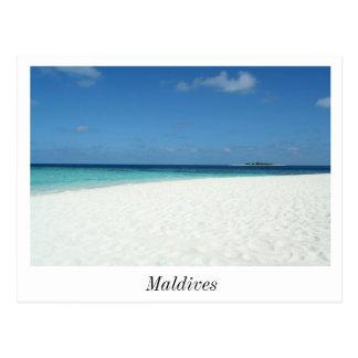 The Beach in Maldives Postcard