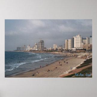 The beach in Tel Aviv Poster