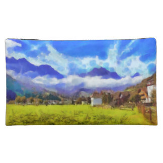 The beauty of a Swiss landscape Cosmetic Bag