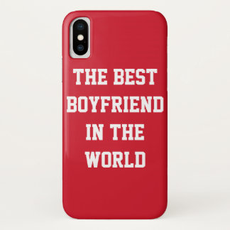 The Best Boyfriend In The World Red iPhone Case