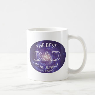 The Best Dad in the Universe Basic White Mug