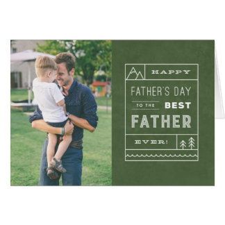 The Best Father Photo Greeting Card - Army