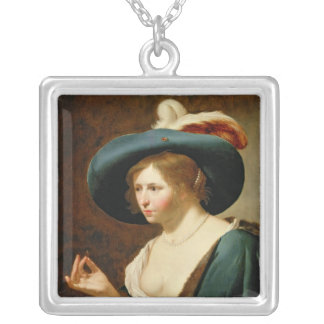 The Betrothal: The Bride, c.1630 Silver Plated Necklace