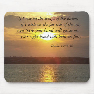 The Bible Psalm 139:9-10 mousepad